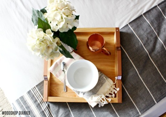 Rose Gold Handle Serving Tray