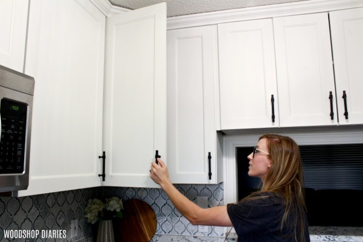 White kitchen with shaker cabinet doors