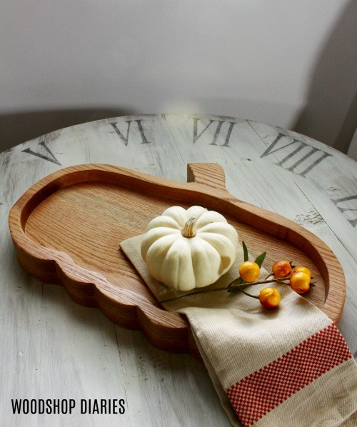 Super cute DIY pumpkin plate serving tray platter