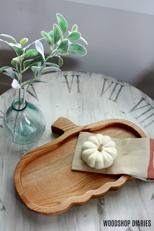 Adorable seasonal serving tray DIY pumpkin plate