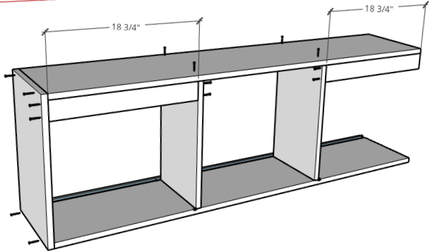 How to assemble sliding door cabinet diagram