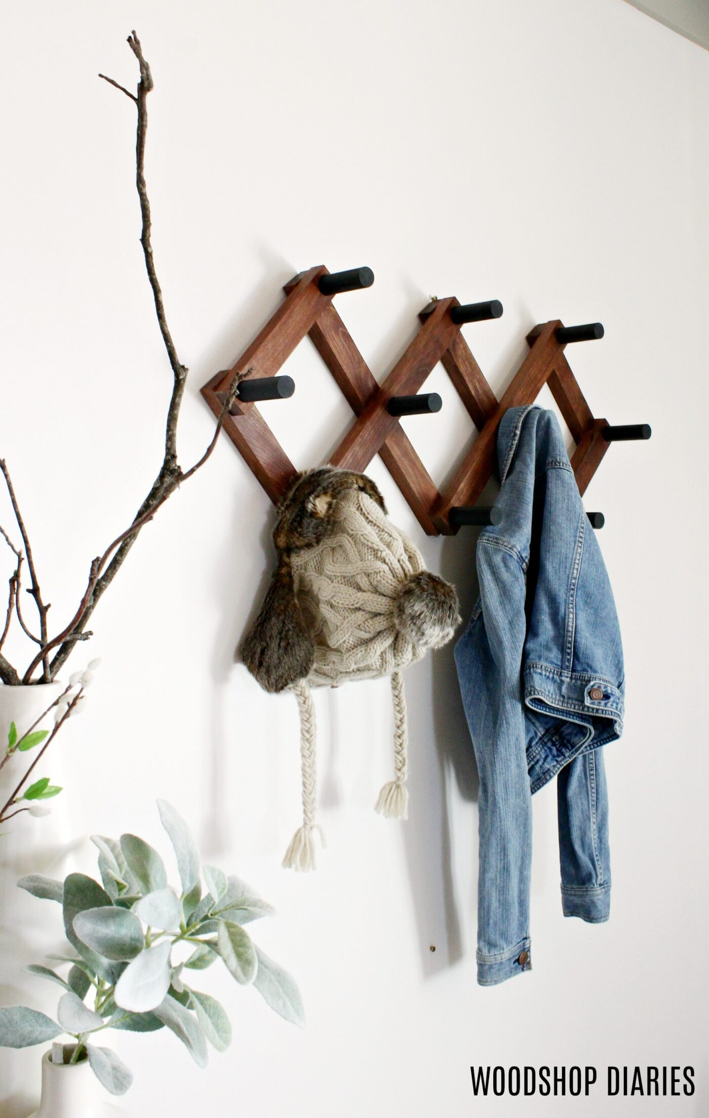 DIY Accordion Coat Hanger for Winter Coats and Hats