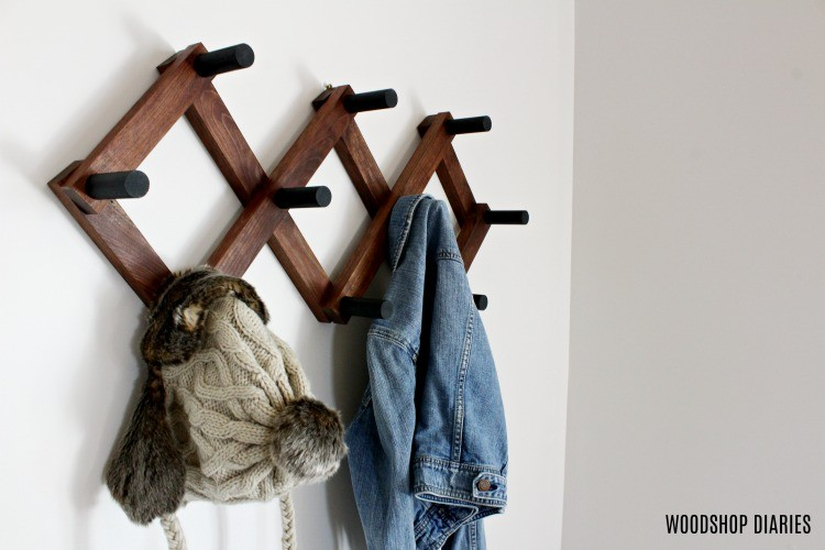 DIY Accordion Coat Rack for Winter Coats and Hats