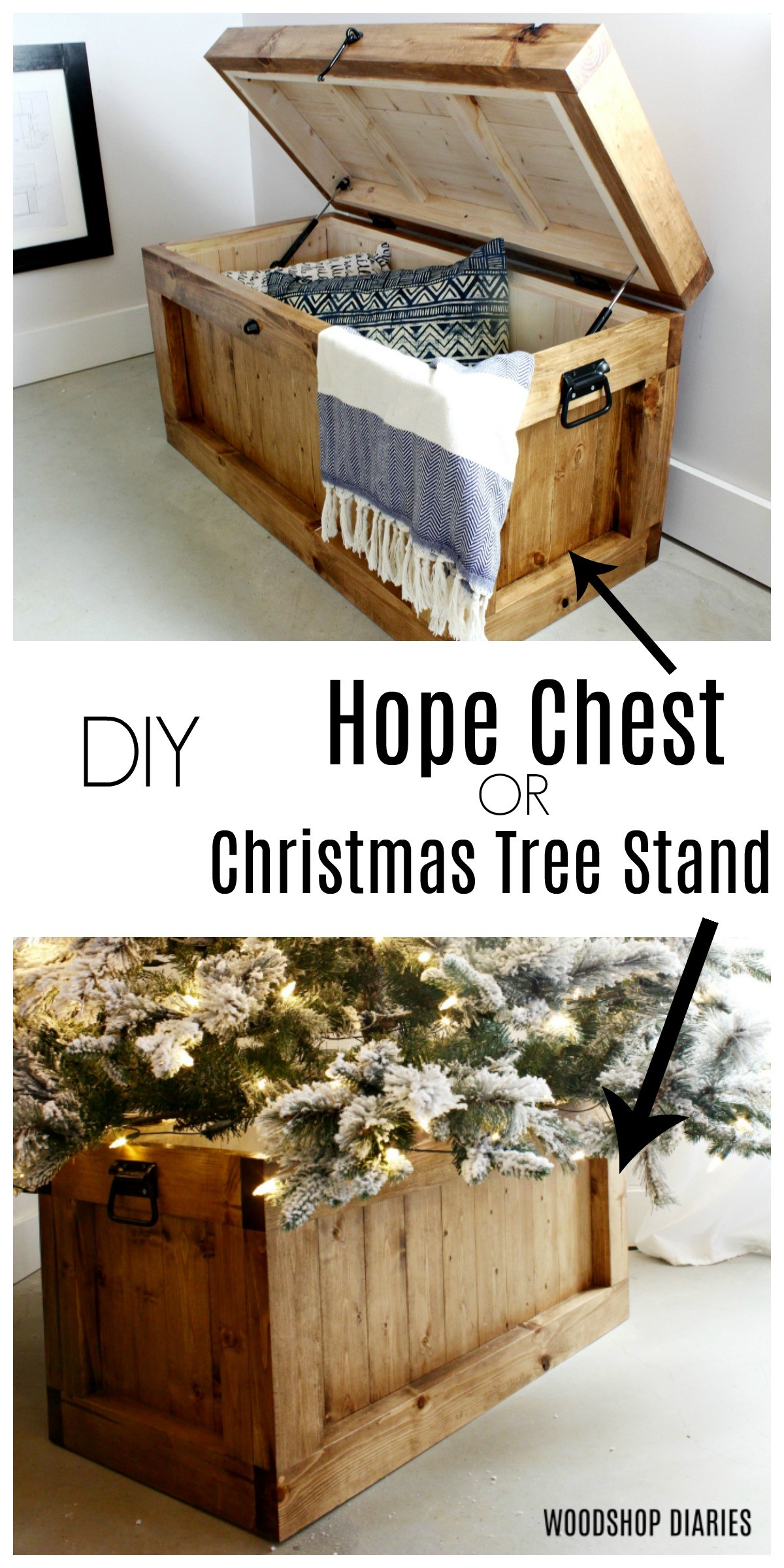 How to Build Your Own DIY Hope Chest or Christmas Tree Stand Box