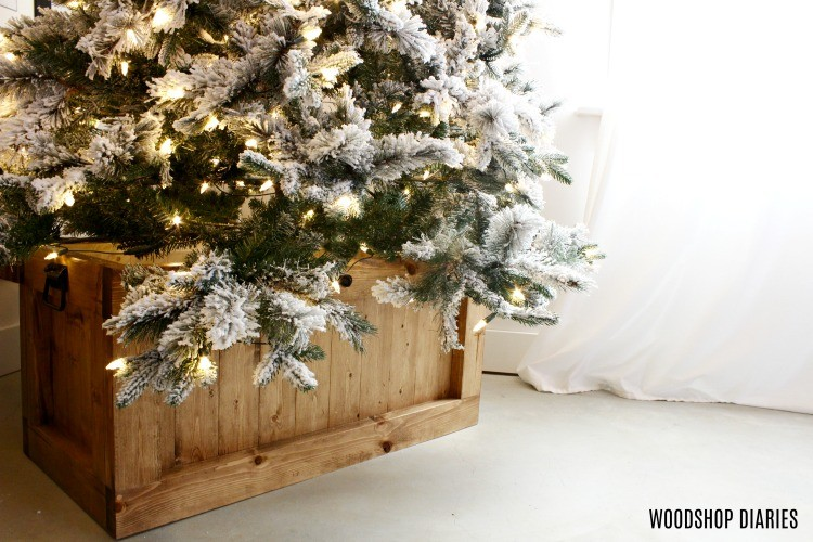 Hope Chest as a Christmas Tree Stand