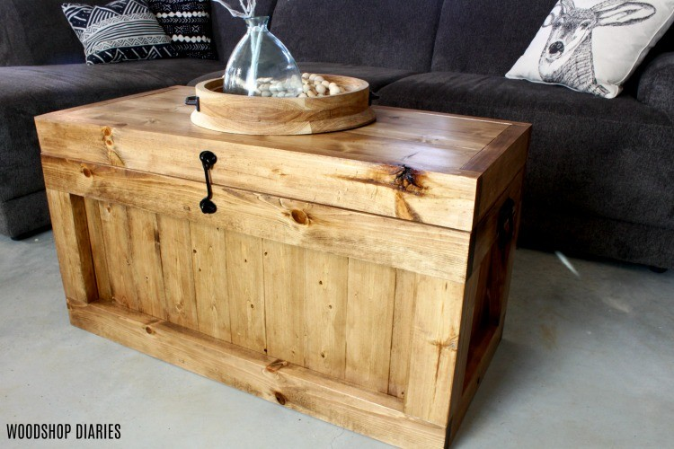 Hope Chest as a Coffee Table