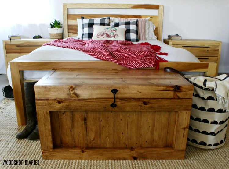 DIY Hope Chest as an end of the bed storage trunk