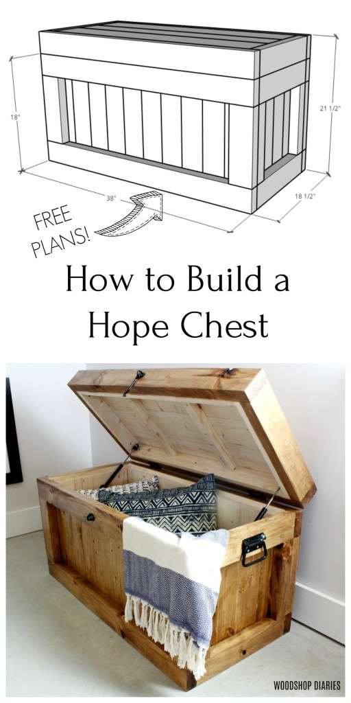 DIY Hope Chest pinterest collage