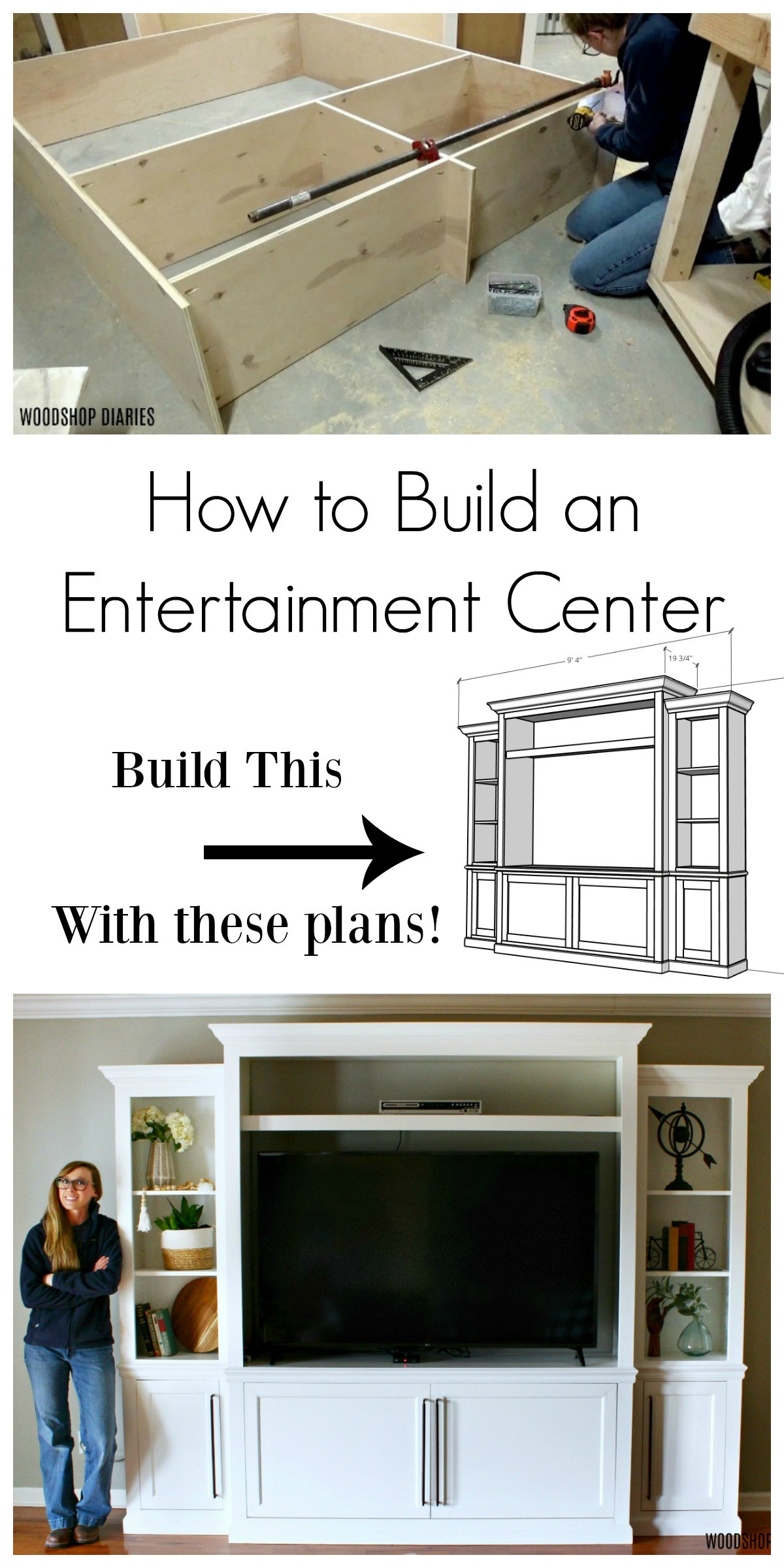 How to build a DIY entertainment center with storage and shelving