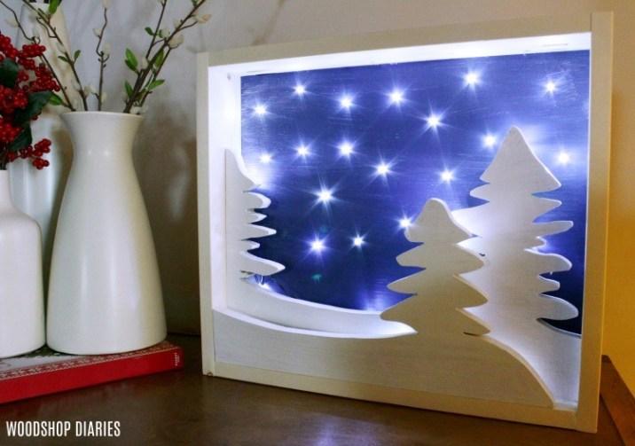 DIY Lighted Christmas Wall Art with Kreg Small