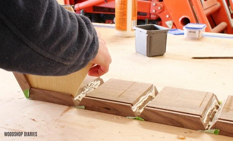 Glue up continuous grain keepsake box