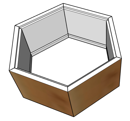 hexagon continuous grain keepsake box diagram