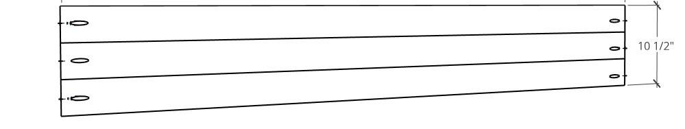 Solid 1x4 panels glued up