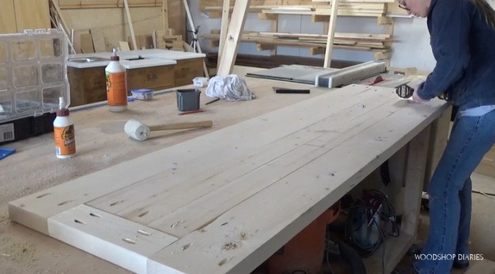 Installing back panel into back bed frame