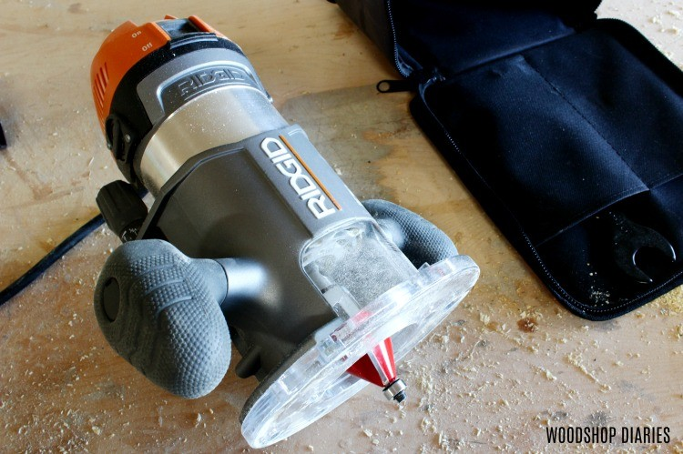 Router guide: Fixed Base Ridgid Router