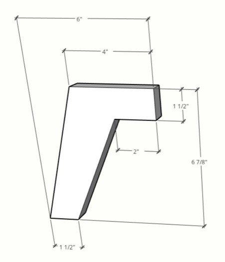 template for modern legs for dog bed and dog bowl stand