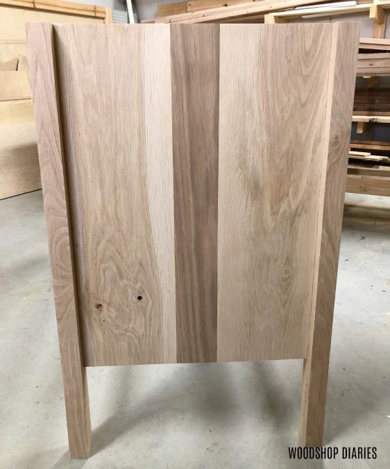 Dresser side panel assembled