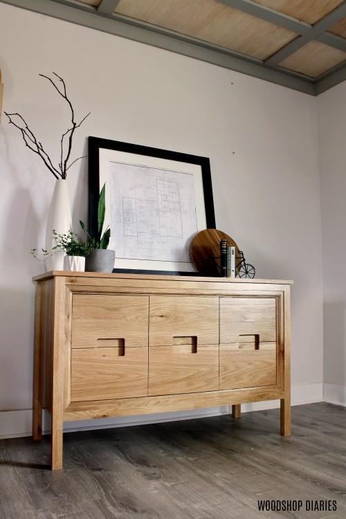 DIY Modern dresser console vanity  with center door cabinet