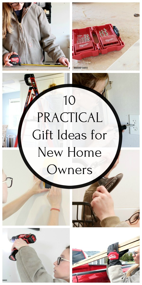 Collage image of gift ideas for new homeowners