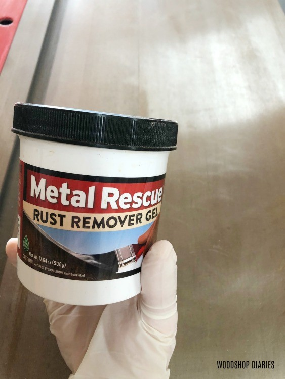 Metal Rescue rust remover gel container