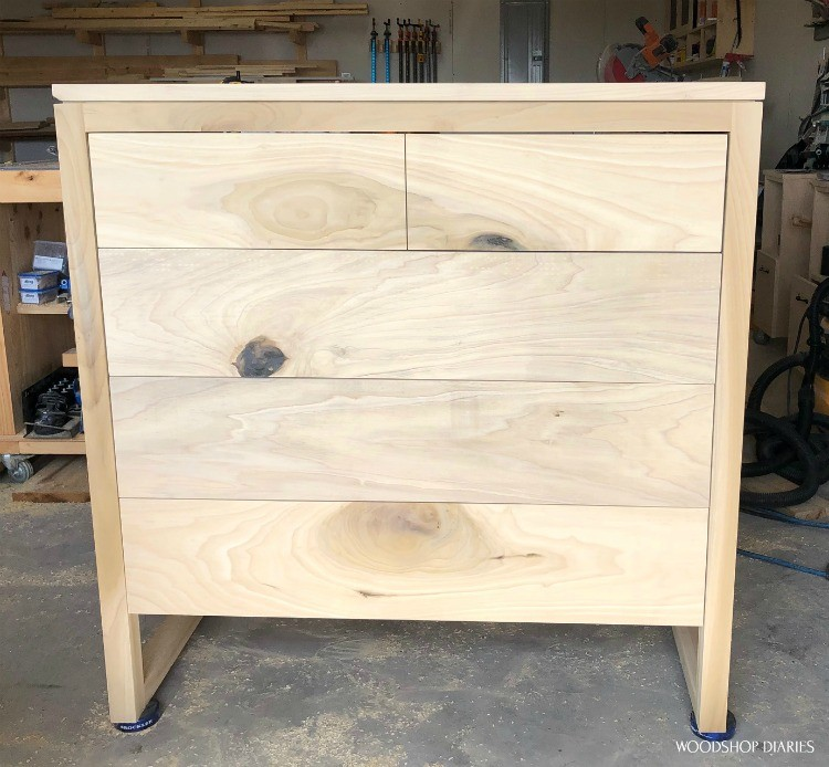 5 drawer dresser with all drawer fronts installed