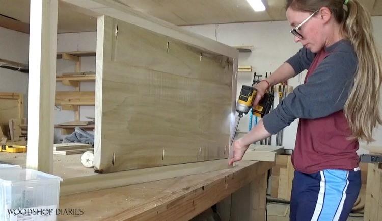 Shara Woodshop Diaries Assembling 5 drawer dresser side panels using pocket holes and screws