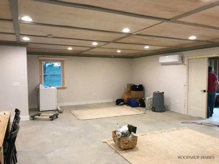 One room studio apartment living area