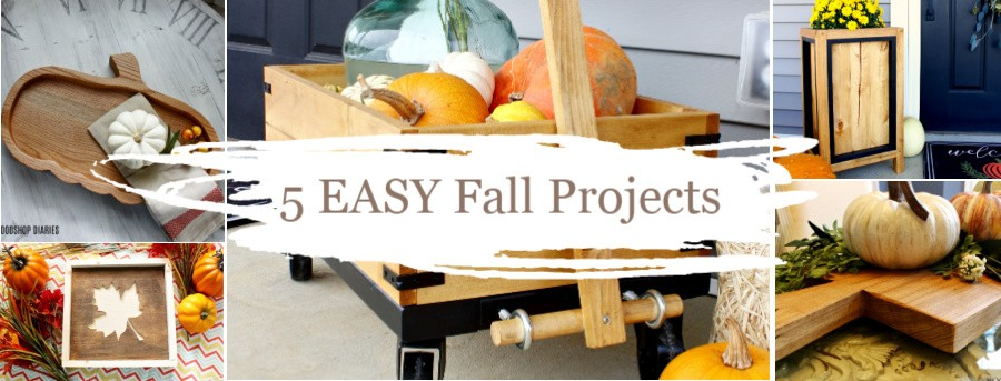 5 Easy DIY Fall Projects Graphic collage