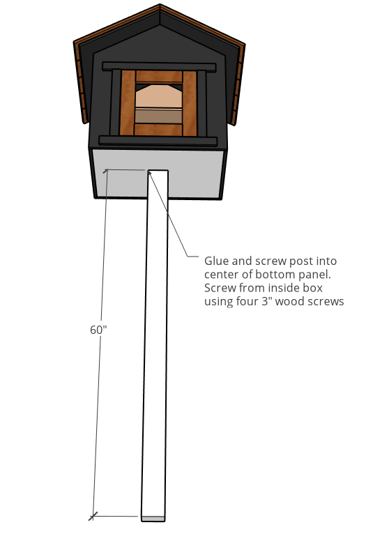 Post length and attachment diagram for blessing community donation box