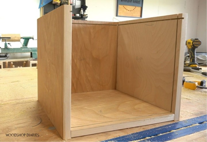 DIY Pie box display case wood pieces dry fit together