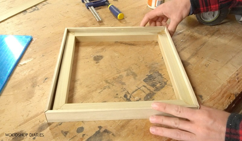 Lattice pieces to trim out picture frame