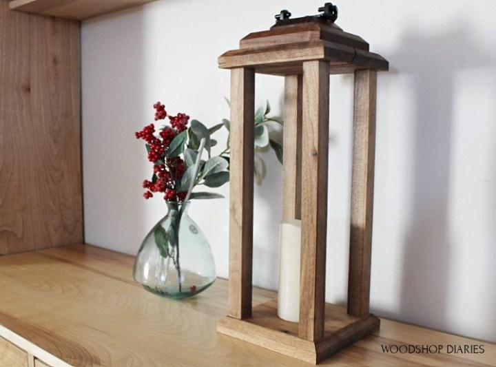 Easy modern scrap wood candle lantern DIY