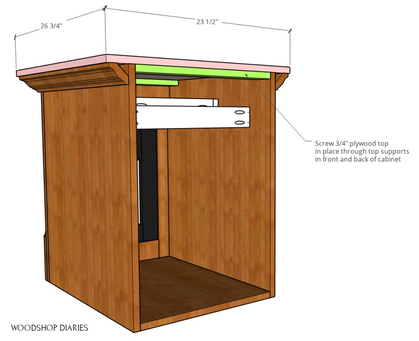 Top panel dimensions for DIY side table