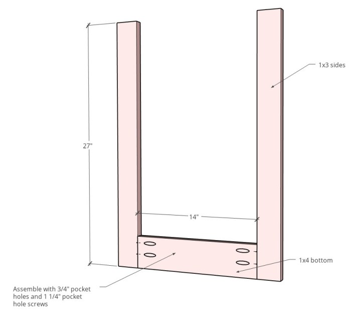 Face frame diagram assembled