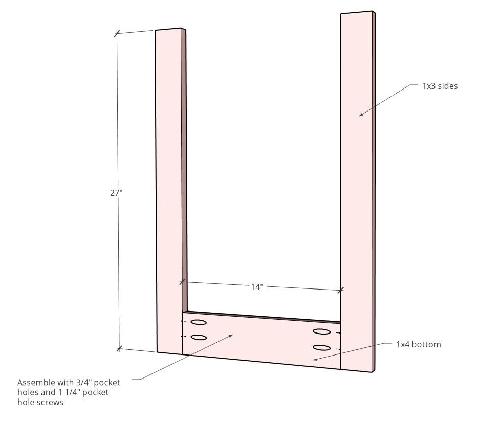 Face frame diagram assembled