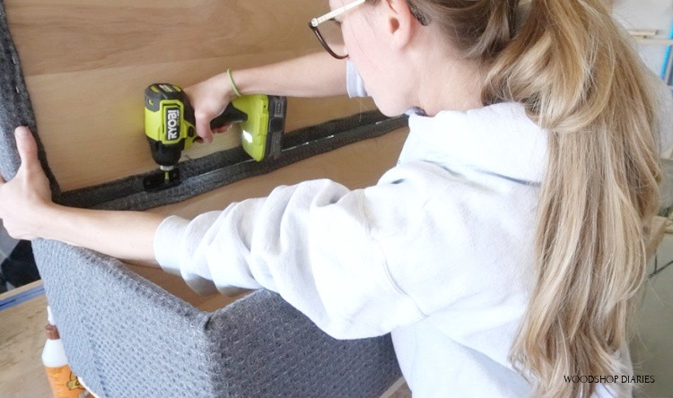 Screw hinges in to attach bench seat to bench box