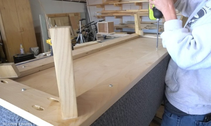 Screw base onto storage box