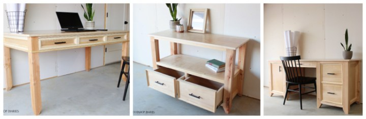 Collage of matching Home Office Furniture Pieces