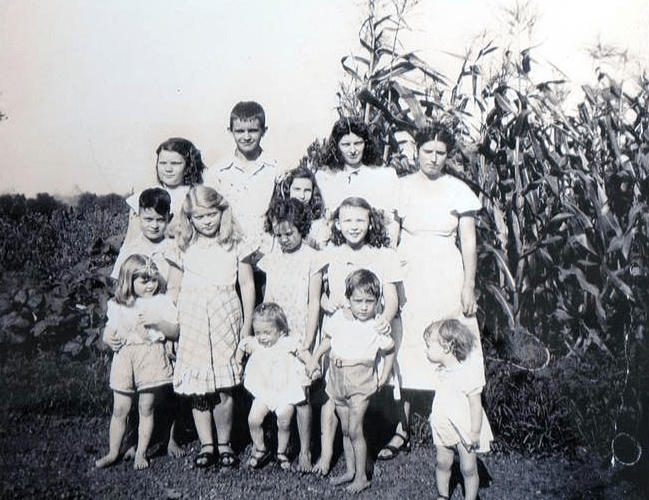 Neighbor and Woodside native, Ms. Tarrant, as a child with her family on what's now WCF