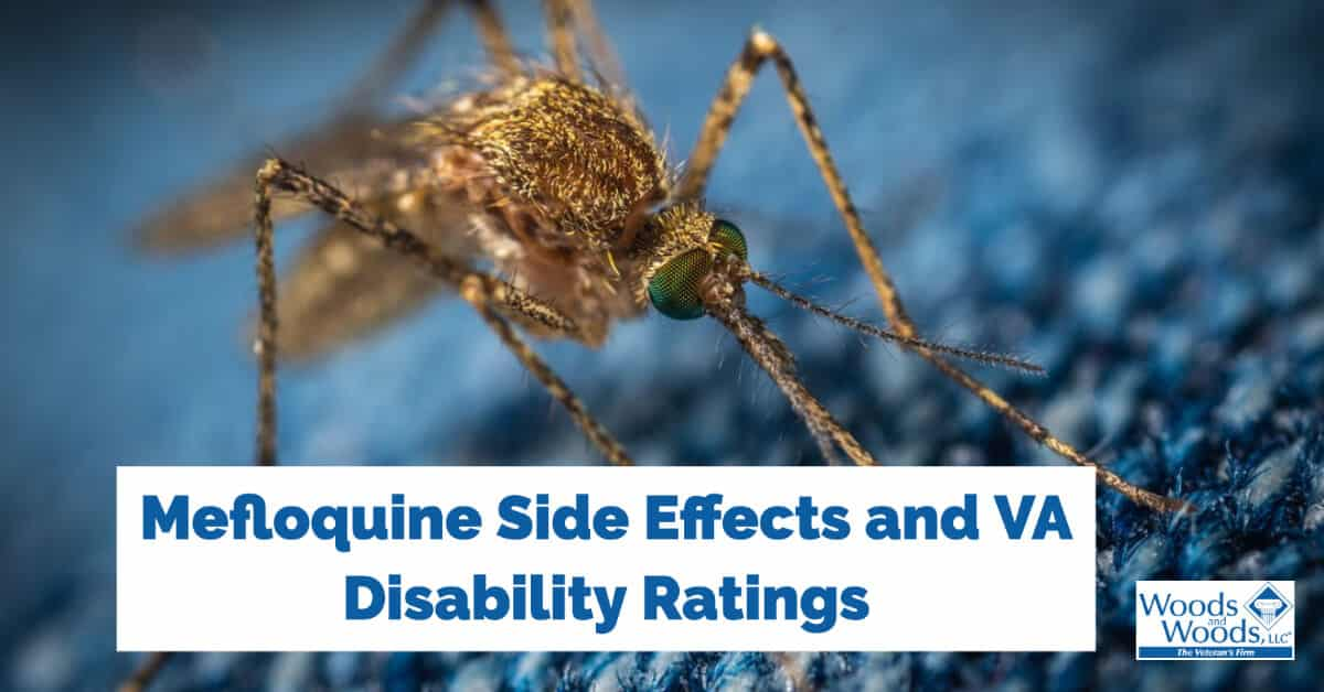 VA Disability for Mefloquine (Malaria Medicine) Toxicity