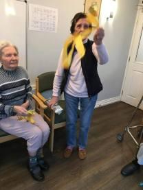 Freda and ribbons