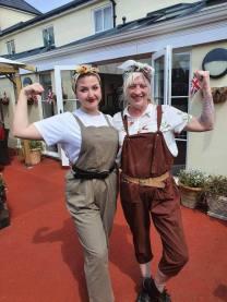 The Land Army Girls, Merissa and Jodie