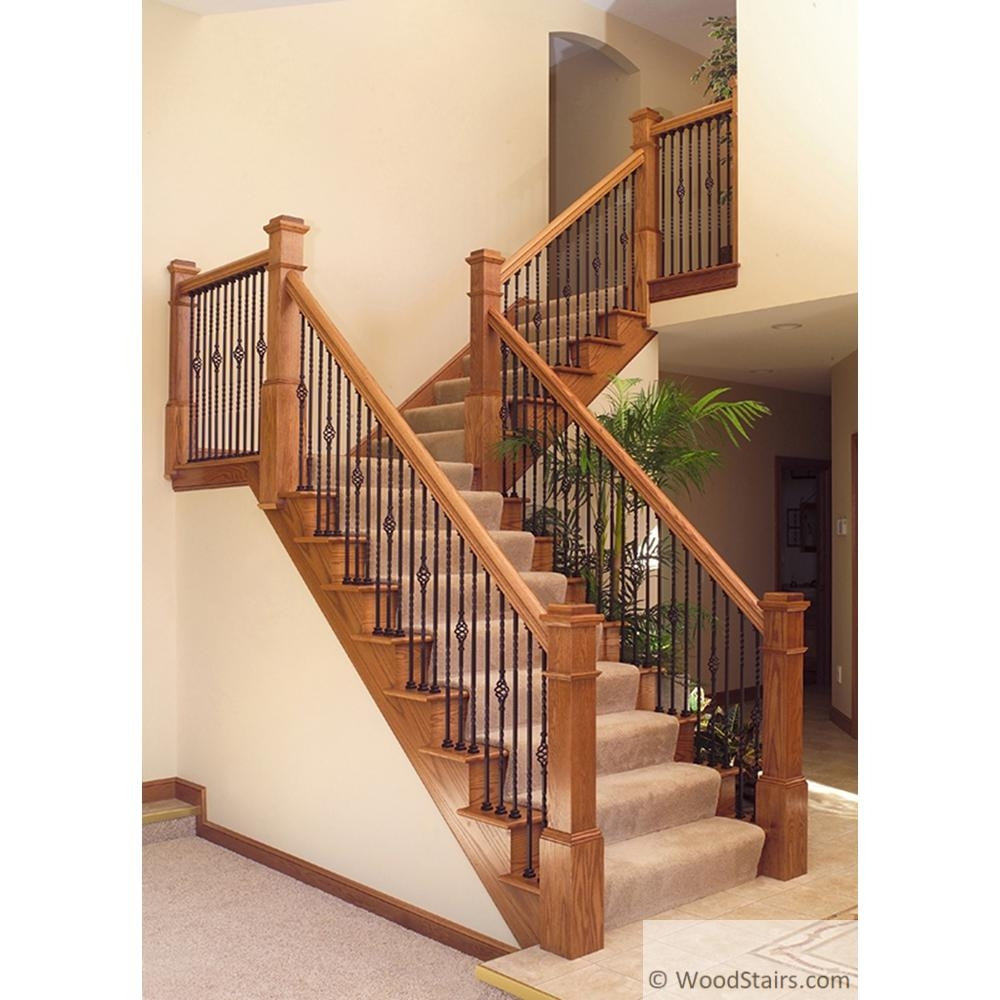 Li Alm06 Flat Shoe Wood Stair Square Iron Baluster Shoes | Shoe Rail For Iron Balusters | Modern | Oak | Slides | Cast Iron | Remodel
