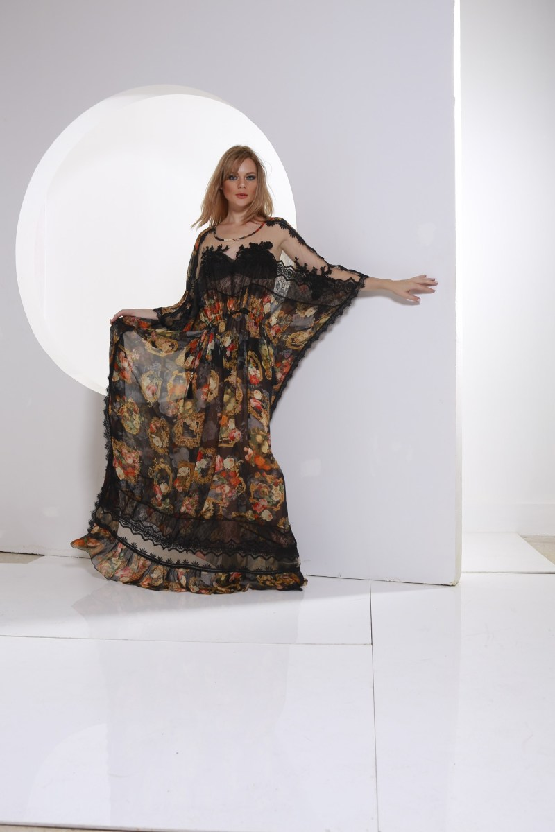 long caftan multicolor