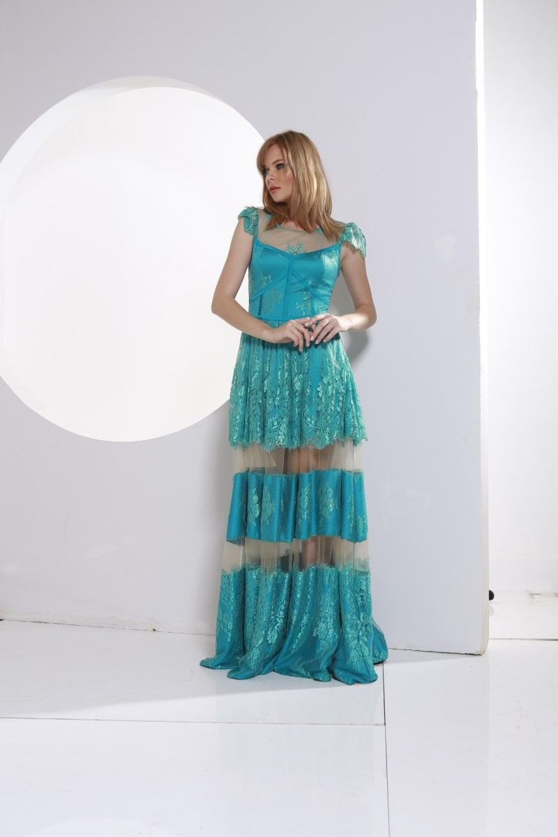dress elodie aqua blue