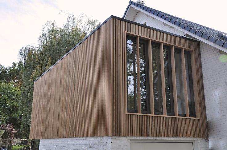 Bardage Claire Voie Vertical En Red Cedar Realisation Woodstone Project