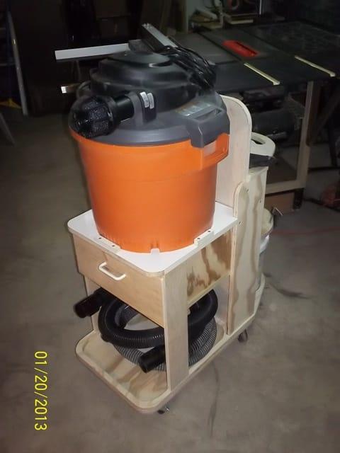 Shop Vac Dust Collector Cart