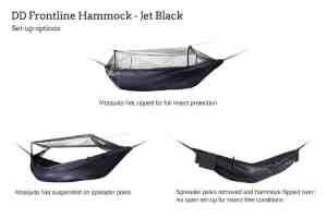 DD Frontline Hammock Jet Black