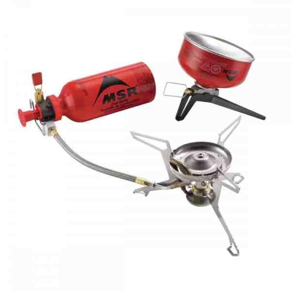 MSR WhisperLite™ Universal Hybrid-fuel Backpacking Stove inc Fuel Bottle