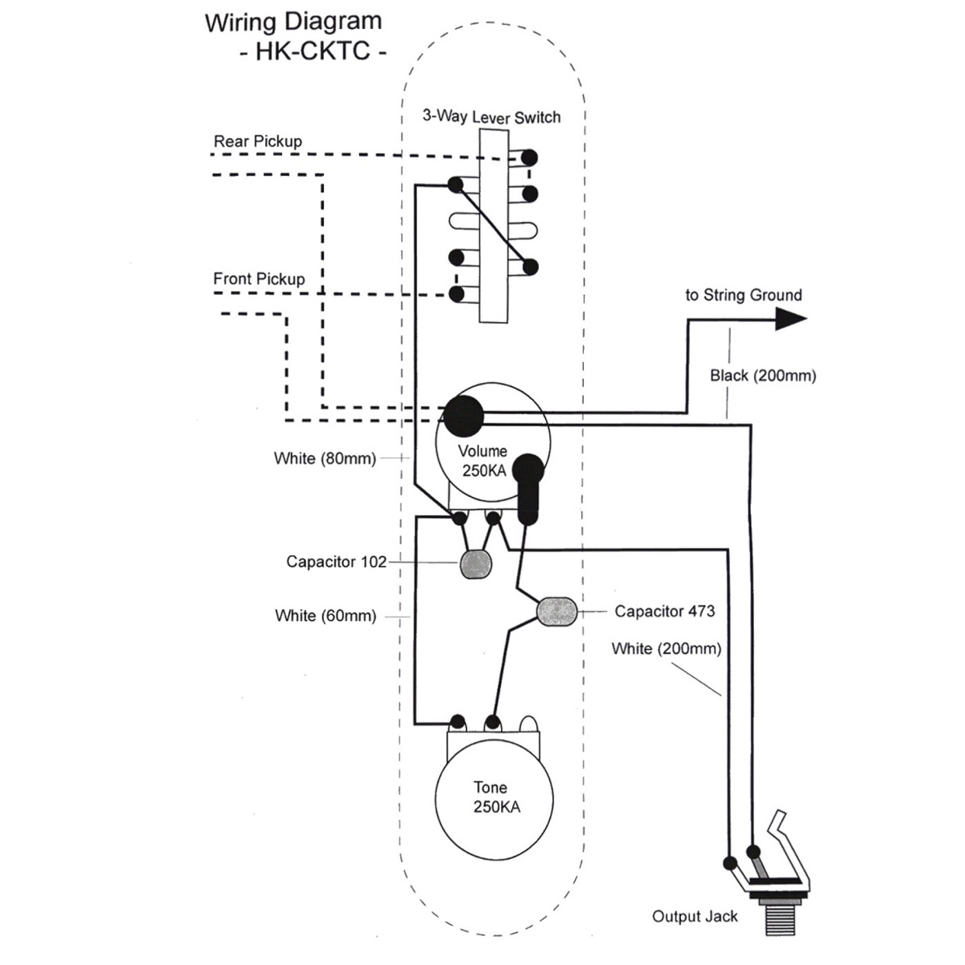 Wiring Kit For Tele Type Guitars With Diagram